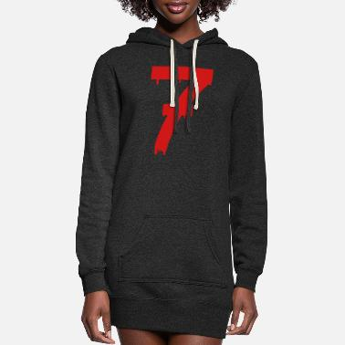 Luck lucky number seven - Women's Hoodie Dress