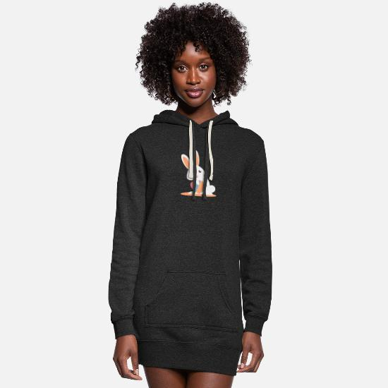Easter Hoodies & Sweatshirts - Easter Bunny - Women's Hoodie Dress heather black