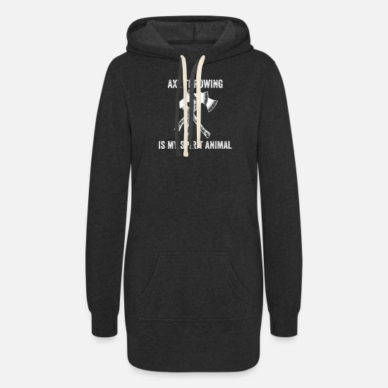 Sisters Hoodies & Sweatshirts - Axe throwing throwing Tomahawk double ax gift - Women's Hoodie Dress heather black