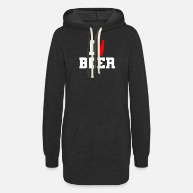 I Love I love Beer - Women's Hoodie Dress