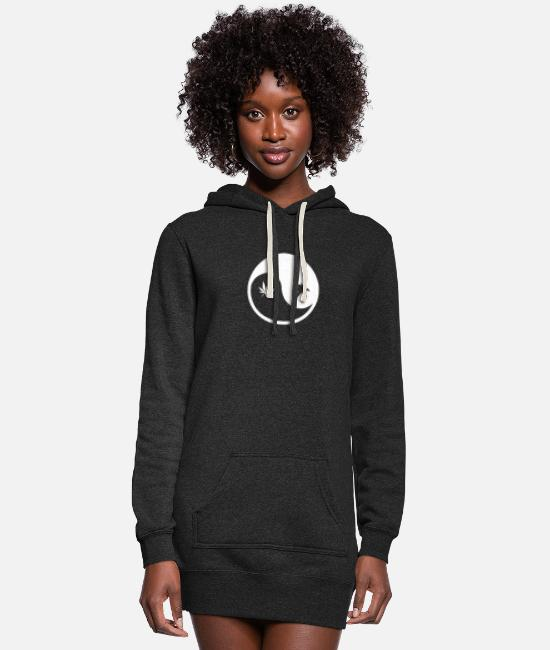 Turn Table Hoodies & Sweatshirts - Ying yang - Women's Hoodie Dress heather black