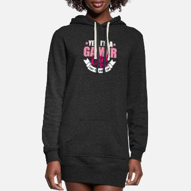 Console Yes I'm a gamer girl try to keep up gamer gift - Women's Hoodie Dress