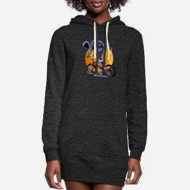 Missile Astronaut BMX 2, Funny Space, Astronaut - Women's Hoodie Dress