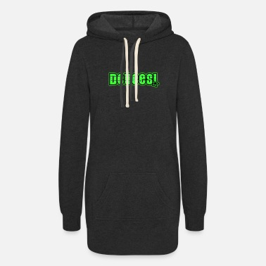 Green Text Deuces Green Text - Women's Hoodie Dress