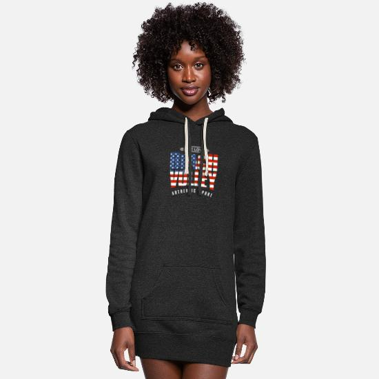 Love Hoodies & Sweatshirts - Live Love Beach Volley US - Women's Hoodie Dress heather black