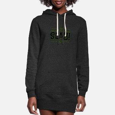 FILL IN YOUR BROWS AND SLAY! - Women's Hoodie Dress