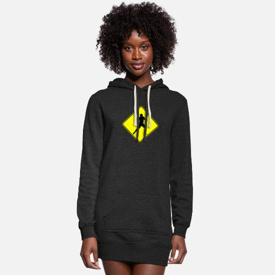 Humor Hoodies & Sweatshirts - Football Quarterback Crossing - Women's Hoodie Dress heather black