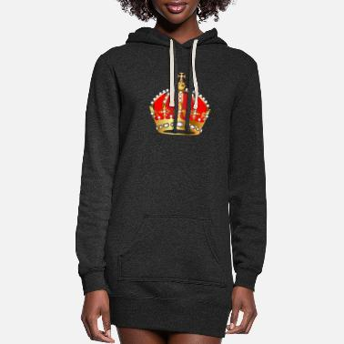 Gold crown pearl VIP jewels monarch - Women's Hoodie Dress