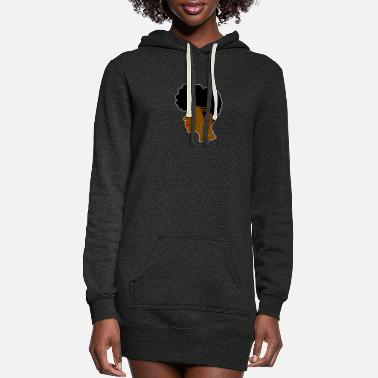 Tapered Afro Shaved - Women's Hoodie Dress