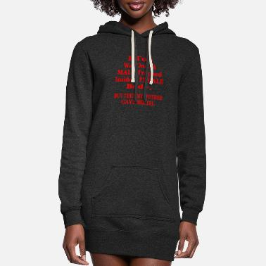 Female I Too Was Once A Male Trapped Inside A Female Body - Women's Hoodie Dress