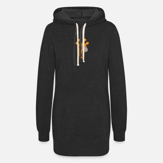 Gift Idea Hoodies & Sweatshirts - a cute giraffe - Women's Hoodie Dress heather black