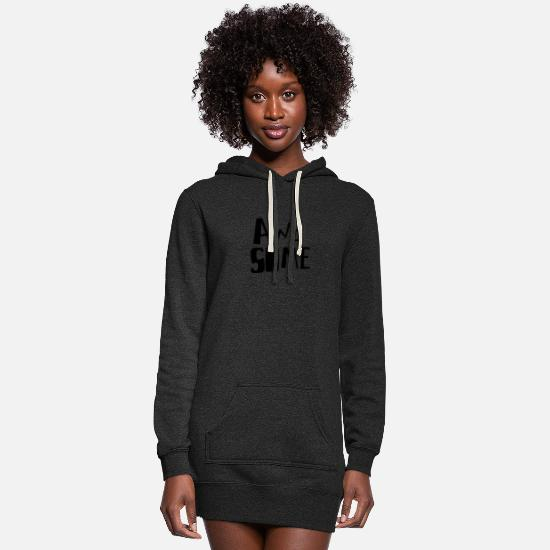 Digital Hoodies & Sweatshirts - Awesome - Women's Hoodie Dress heather black