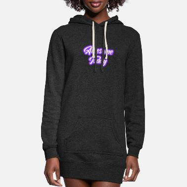 Slogan slogan - Women's Hoodie Dress