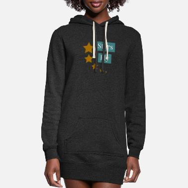 Naughty Fly Star - Women's Hoodie Dress