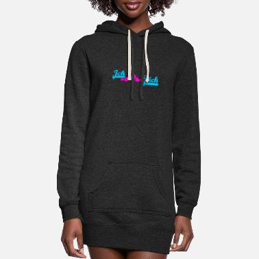 Vector =❤️Ich Liebe Dich-I Love you in German - Women's Hoodie Dress