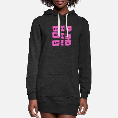 My Cat cats - be with my cats - Women's Hoodie Dress
