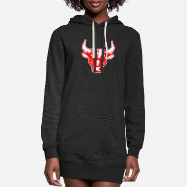 Superstar Taurus Bull - Women's Hoodie Dress