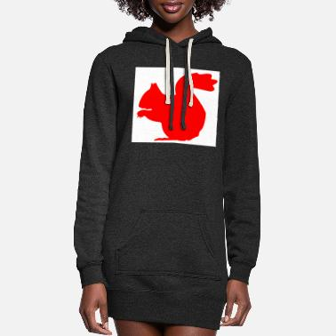 Squirrel squirrel - Women's Hoodie Dress