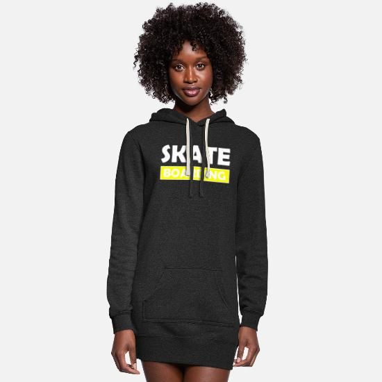 Longboard Hoodies & Sweatshirts - Skateboarding - Women's Hoodie Dress heather black