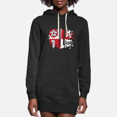Leicestershire Leicestershire Flag Paint Splatter Design - Women's Hoodie Dress