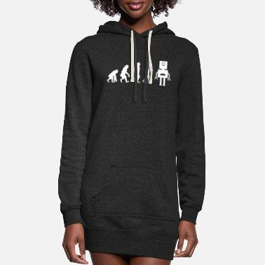 Robot Robotics Robot Evolution - Women's Hoodie Dress