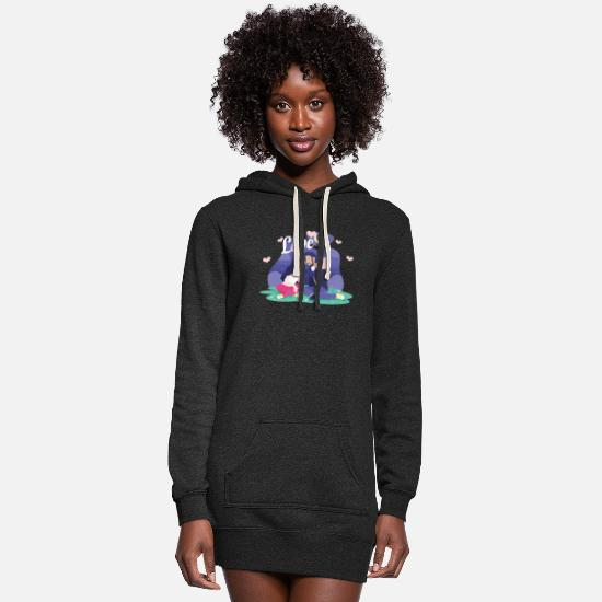 Day Hoodies & Sweatshirts - Happy Couple Valentines Day Hearts Day Love Gift - Women's Hoodie Dress heather black