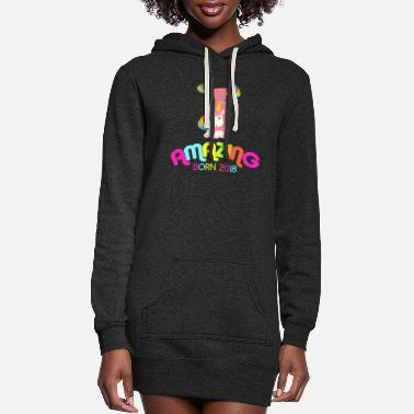 Old 1st Birthday Celebration Gift Amazing Since 2018 - Women's Hoodie Dress