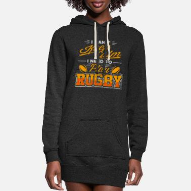 Keep Calm I Can'T Keep Calm Need To Play Rugby Player - Women's Hoodie Dress