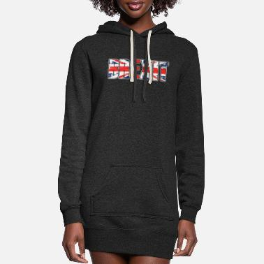 Uk UK Flag Brexit British Flag UK Europe Exit Gift - Women's Hoodie Dress