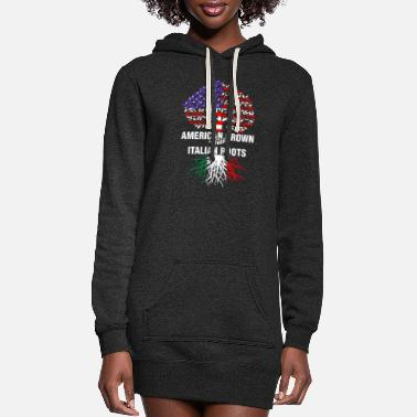 Italian American Grown With Italian Roots - Women's Hoodie Dress