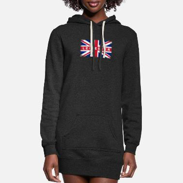 Leicestershire Leicester Shirt Vintage United Kingdom Flag T-Shir - Women's Hoodie Dress
