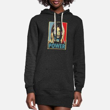 Power Power - Women's Hoodie Dress