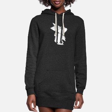 Logo Paper Bunny - Women's Hoodie Dress