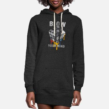 Rubik's Cube Blow Your Mind - Women's Hoodie Dress
