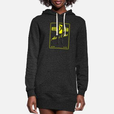 Bass Bass - Ace of Bass - Women's Hoodie Dress
