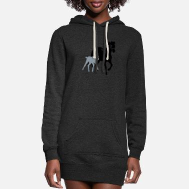 Mare mare with foal - Women's Hoodie Dress