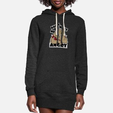Don't make me angry - Women's Hoodie Dress