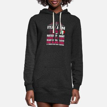 Italian Italian Girl Cant Control - Women's Hoodie Dress