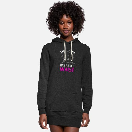 Love Hoodies & Sweatshirts - THIS GIRL HAS A NICE WAIST - Women's Hoodie Dress heather black