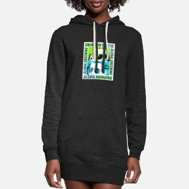 Global Global Warming or Global Greening - Women's Hoodie Dress