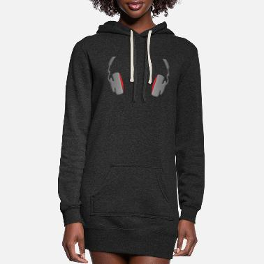 Mp3 Headphones Cool Simply and Classy - Women's Hoodie Dress