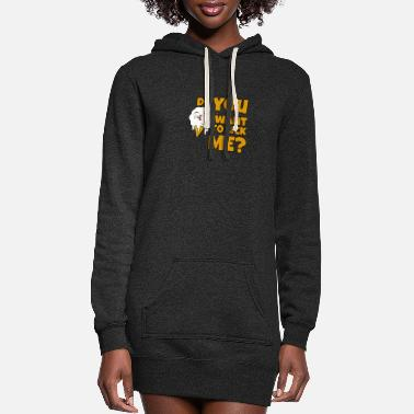 Frost Do you want to lick me? Ice cream - Women's Hoodie Dress