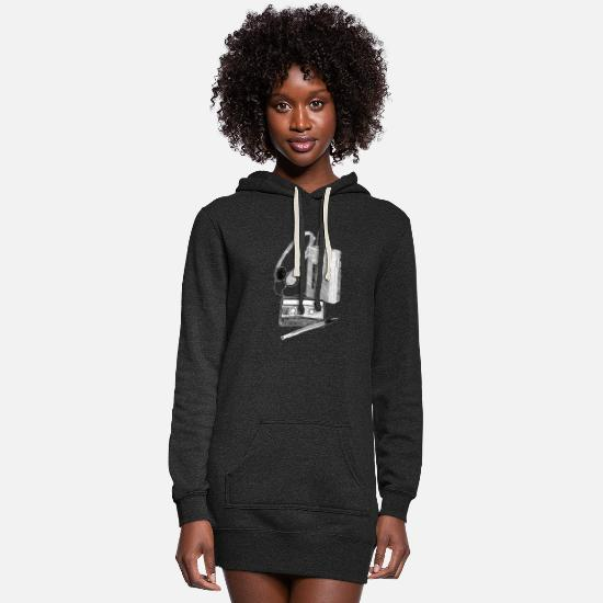Cassette Hoodies & Sweatshirts - Cassette, Walkman and Pen - Women's Hoodie Dress heather black
