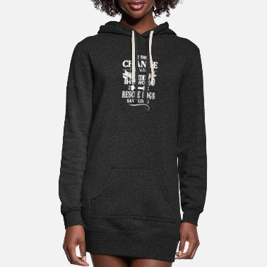 Rescue New Design Be The Change To Rescue Dogs - Women's Hoodie Dress