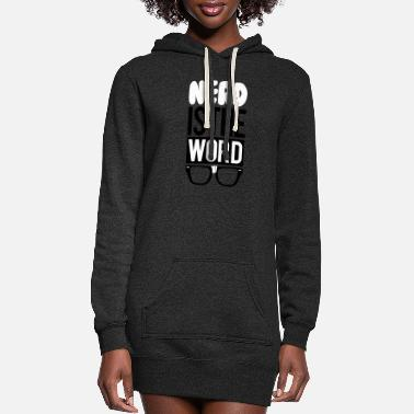 Word nerd is the word - Women's Hoodie Dress