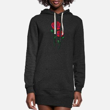 Rose Red roses - Women's Hoodie Dress