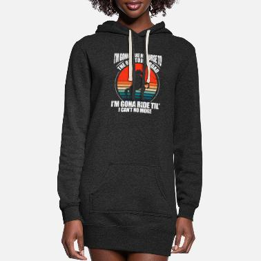 Horseshoe I'm Gonna Take My Horse To The Old Town Road Retro - Women's Hoodie Dress