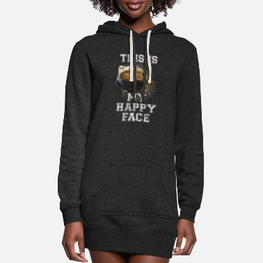 Gecko Bearded Dragon This Is My Happy Face Vintage - Women's Hoodie Dress