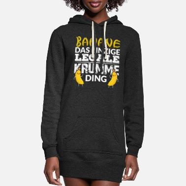 Sow BANANA THE ONLY LEGAL CROOKED THING - Women's Hoodie Dress