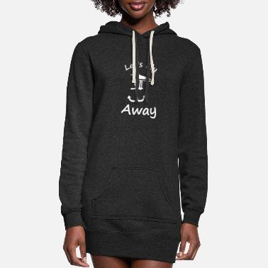 Sit seagull anchor lets fly away - Women's Hoodie Dress